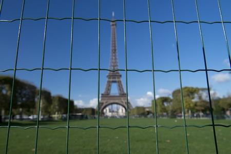 contrasted: Eiffel Tour Paris Stock Photo
