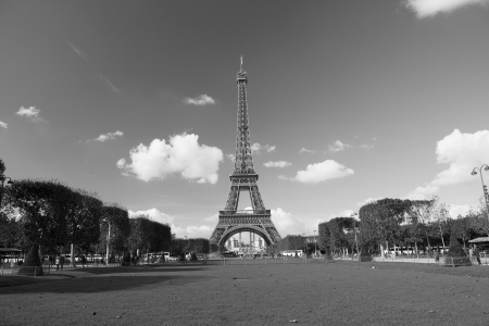 black history: The Eiffel Tower in Paris, France Stock Photo