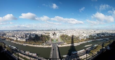 Paris, France - aerial city view Eiffel Towe photo
