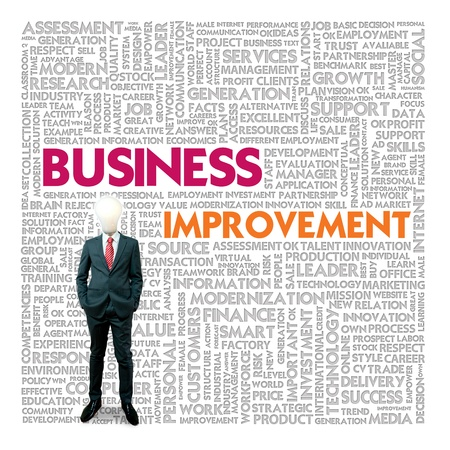 business improvement: Business word cloud for business and finance concept, Business Improvement