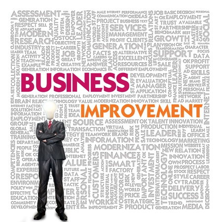 Business word cloud for business and finance concept, Business Improvement