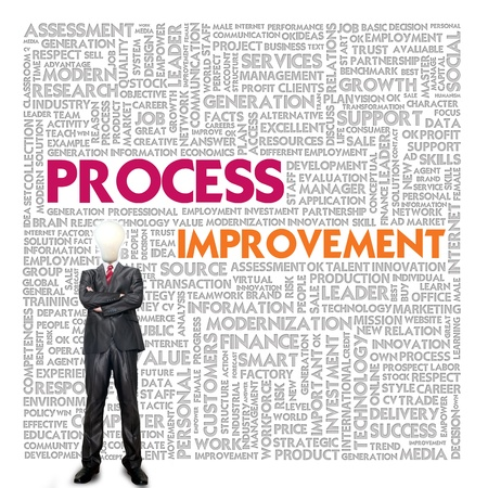 Business word cloud for business and finance concept, Process Improvement Stock Photo - 16857424