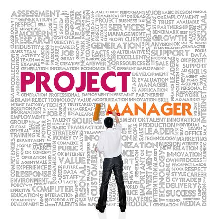 challenger: Business word cloud for business and finance concept, Project Manager