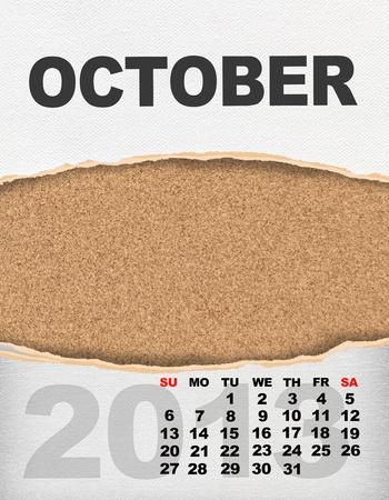 Vertical calendar 2013 year Stock Photo - 17049136