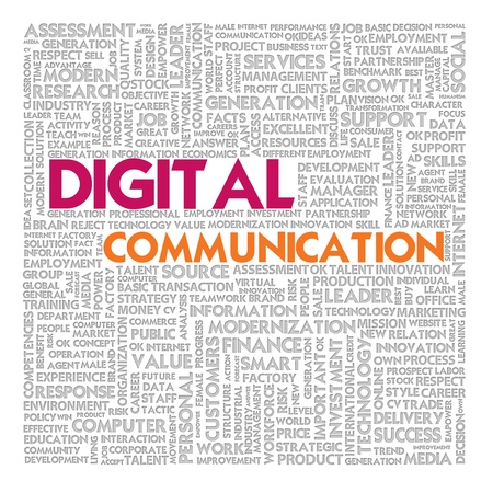 Business word cloud for business and finance concept, Digital Communication Stock Photo - 17049190