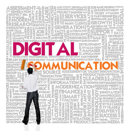 Business word cloud for business and finance concept, Digital Communication Stock Photo - 17049169