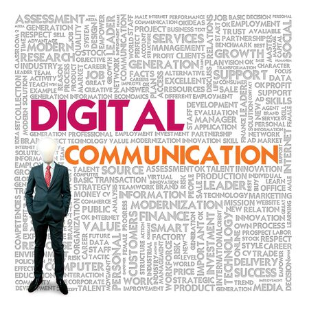 Business word cloud for business and finance concept, Digital Communication Stock Photo - 17049191