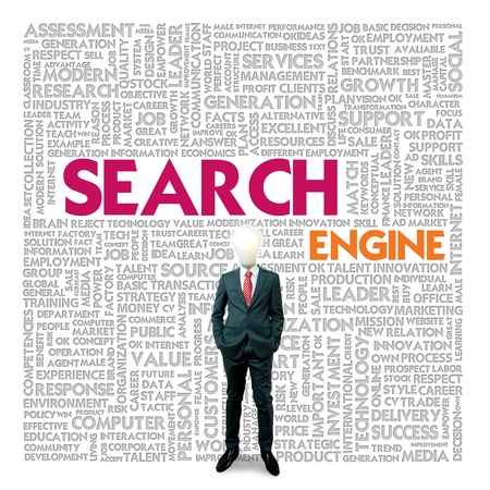 Business word cloud for business and finance concept, Search Engine Stock Photo - 17049196
