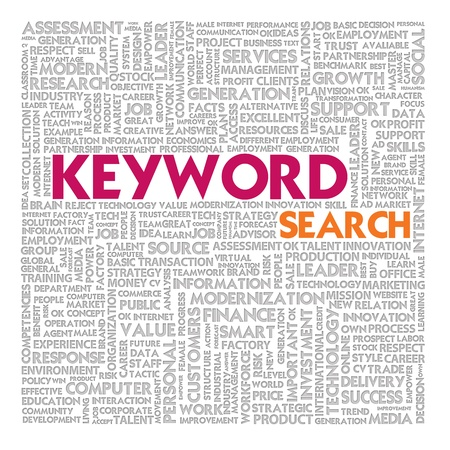 Business word cloud for business and finance concept, Search Engine Concept Stock Photo - 17049197