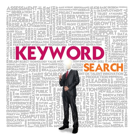 Business word cloud for business and finance concept, Search Engine Concept Stock Photo - 17049147