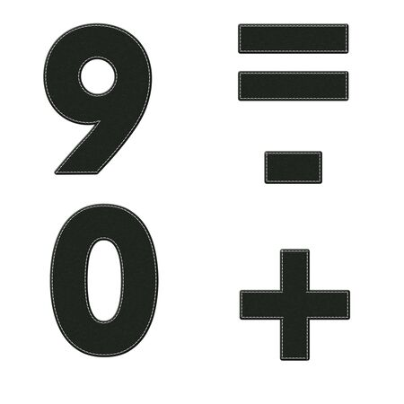 Alphabet with stitch design on fabric elements Stock Photo - 17493363