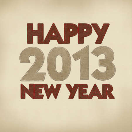 leather stitch: Happy new year 2013 with stitch style on leather