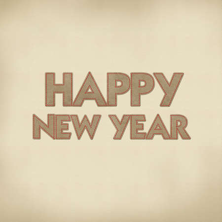 Happy new year 2013 with stitch style on leather Stock Photo - 17493742