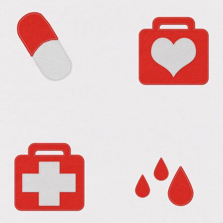 medical symbol: Medical symbol  in stitch style Stock Photo