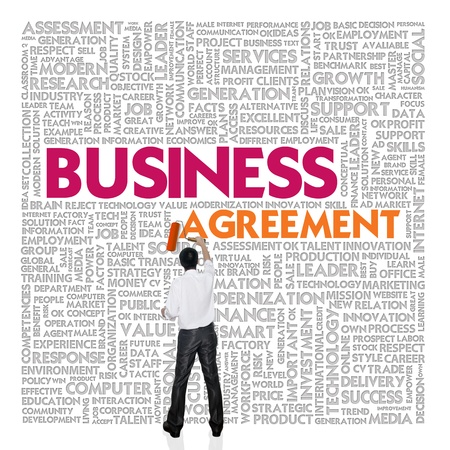 Business word cloud for business and finance concept, Business contract Stock Photo - 18667713