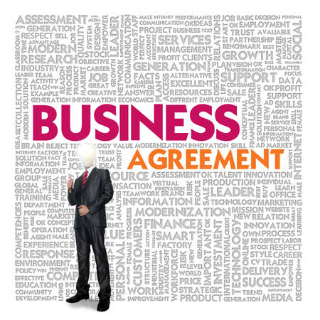 Business word cloud for business and finance concept, Business contract Stock Photo - 18667652
