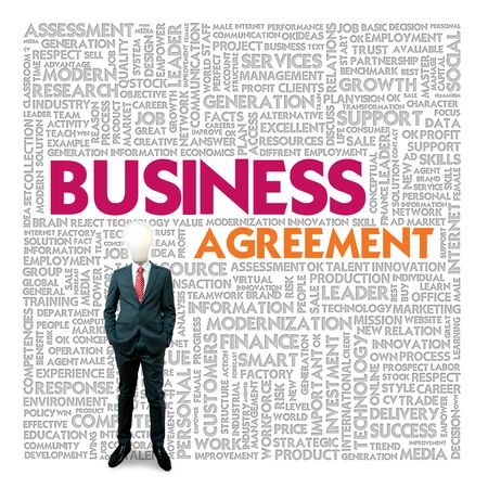 Business word cloud for business and finance concept, Business contract Stock Photo - 18667702