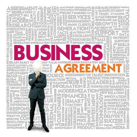 Business word cloud for business and finance concept, Business contract Stock Photo - 18667730