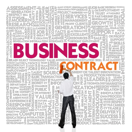 Business word cloud for business and finance concept, Business contract Stock Photo - 18667724