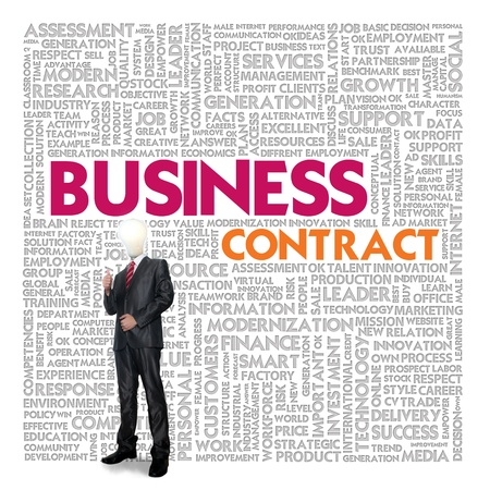 Business word cloud for business and finance concept, Business contract Stock Photo - 18667656