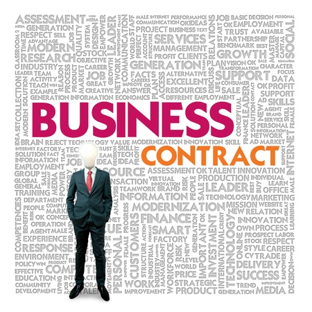Business word cloud for business and finance concept, Business contract Stock Photo - 18667657