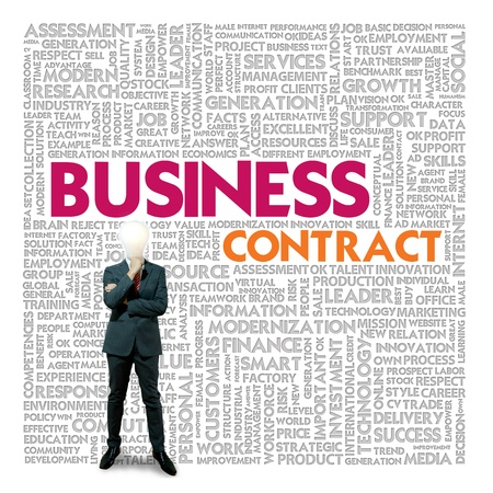 Business word cloud for business and finance concept, Business contract Stock Photo - 18667771