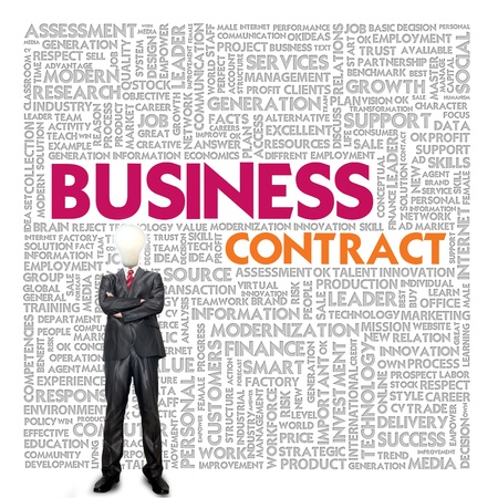 Business word cloud for business and finance concept, Business contract Stock Photo - 18667763
