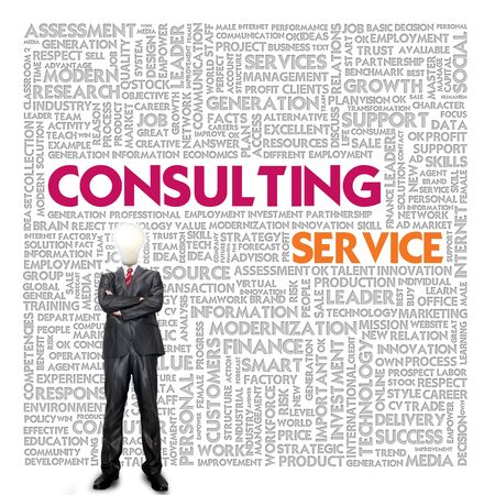 banking problems: Business word cloud for business and finance concept, Consulting service Stock Photo
