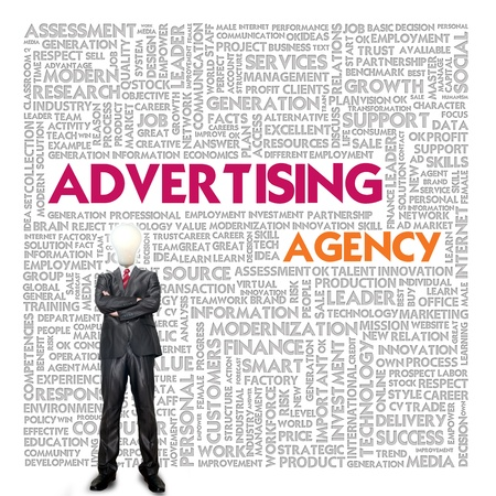 Business word cloud for business and finance concept, advertising agency photo