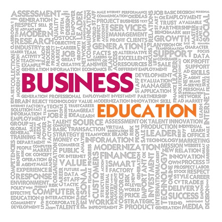 Business word cloud for business and finance concept, Business Education Stock Photo - 18667718