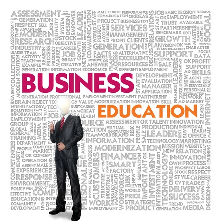 Business word cloud for business and finance concept, Business Education Stock Photo - 18667903