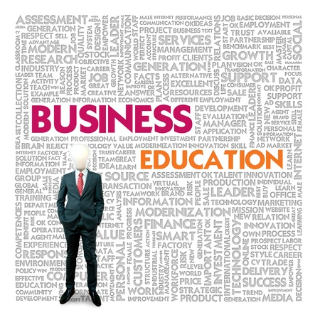 Business word cloud for business and finance concept, Business Education Stock Photo - 18667792