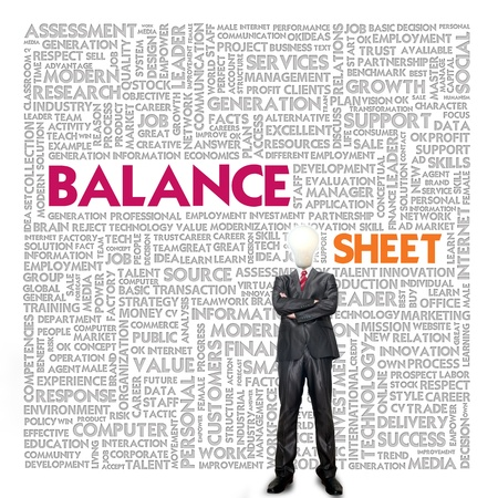 Business word cloud for business and finance concept, Balance sheet Stock Photo - 18667975