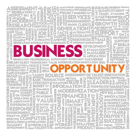 Business word cloud for business and finance concept, Business Opportunity Stock Photo - 18667704
