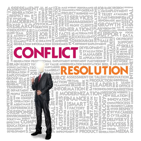 Business word cloud for business and finance concept, Conflict Management photo