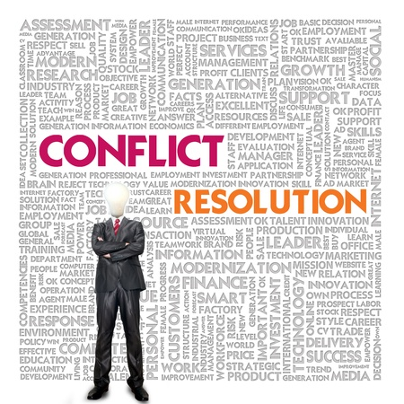 Business word cloud for business and finance concept, Conflict Management Stock Photo - 18667899