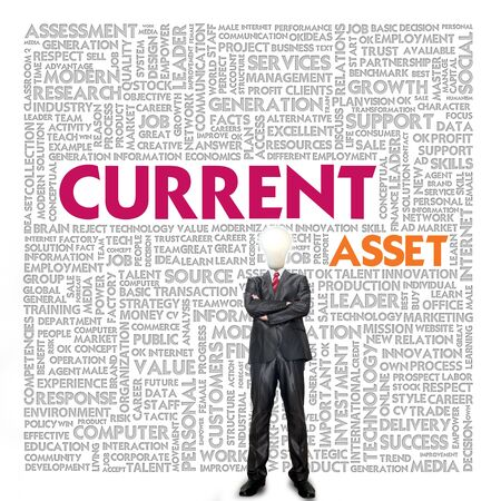 liabilities: Business word cloud for business and finance concept, Current asset Stock Photo