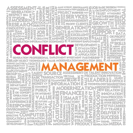 Business word cloud for business and finance concept, Conflict Management Stock Photo - 18667667