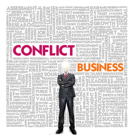 Business word cloud for business and finance concept, Conflict Management Stock Photo - 18667920