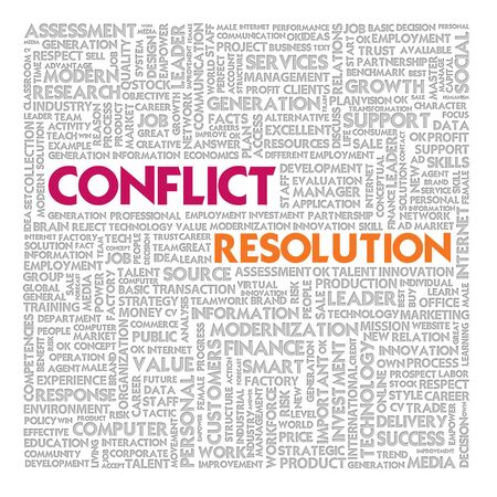 Business word cloud for business and finance concept, Conflict Management Stock Photo - 18667722