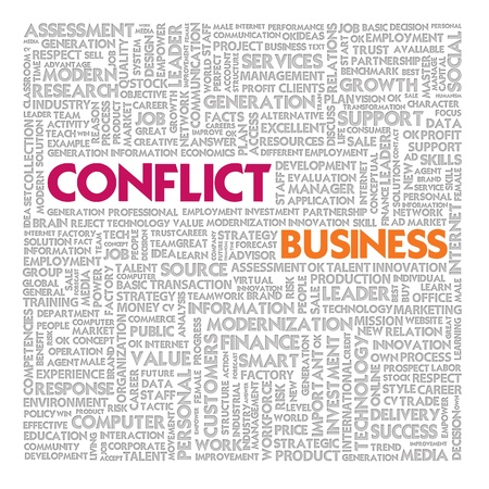 Business word cloud for business and finance concept, Conflict Management Stock Photo - 18667795
