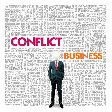 Business word cloud for business and finance concept, Conflict Management Stock Photo - 18667857
