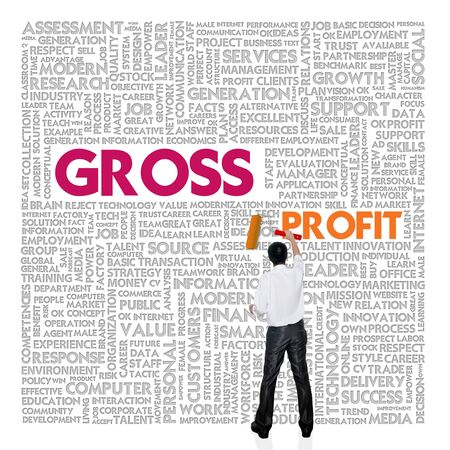 liabilities: Business word cloud for business and finance concept, Gross Profit