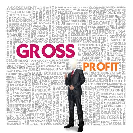 cash flow statement: Business word cloud for business and finance concept, Gross Profit