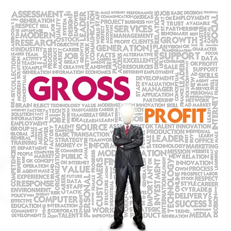 Business word cloud for business and finance concept, Gross Profit photo