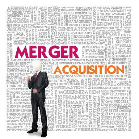 merger: Business word cloud for business and finance concept, Merger