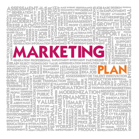 Business word cloud for business and finance concept, Marketing Plan photo