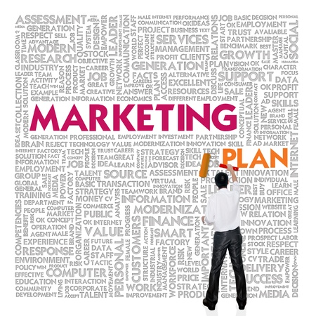 marketing plan: Business word cloud for business and finance concept, Marketing Plan Stock Photo