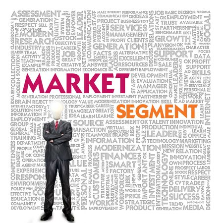 Business word cloud for business and finance concept, Market Segment photo