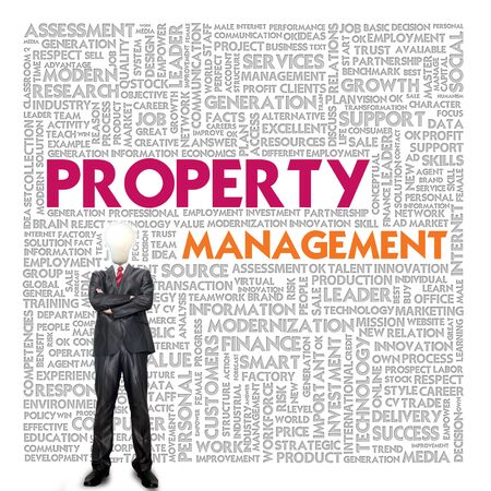 property management: Business word cloud for business and finance concept, Property management